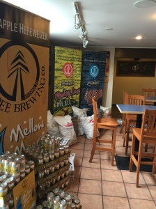 Inside the taproom at Tree Beer