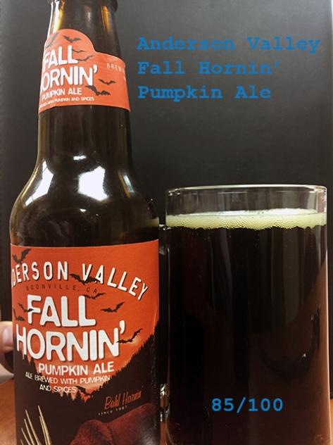 Beer 1 - Anderson Valley Hornin' Ale