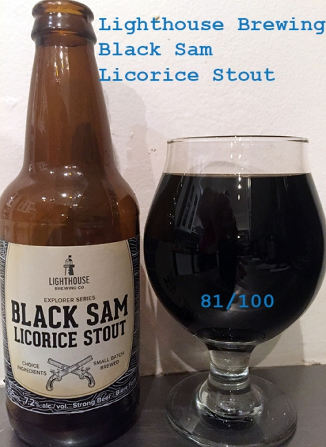 Beer 2 - Lighthouse Brewing - Black Sam Licorice Stout