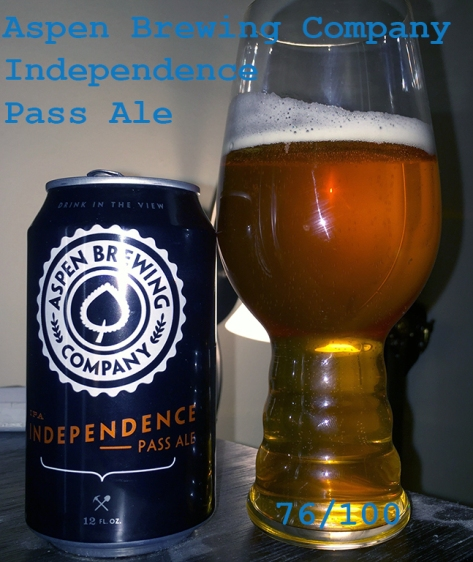 Beer 3 - Aspen Brewing Company - Independence Pass Ale