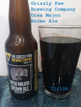Day 11 - Grizzly Paw Brewing Company - Ursa Major Brown Ale