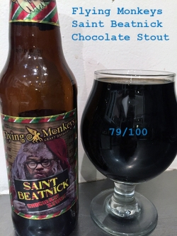 Day 12 - Flying Monkeys Craft Brewery - Saint Beatnick Chocolate Stout