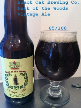 Day 18 - Black Oak Brewing Co - Neck of the Woods Vintage Ale