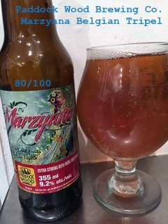Day 20 - Paddock Wood Brewing Company - Marzyana Belgian Tripel