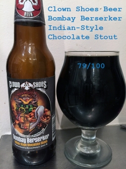 Day 21 - Clown Shoes Beer - Bombay Berserker Indian-Stlye Chocolate Stout