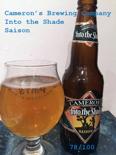 Day 7 - Cameron's Brewing Company - Into the Shade Saison
